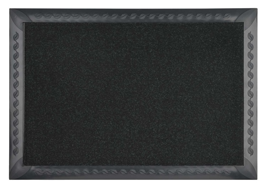 Doormat with matting.