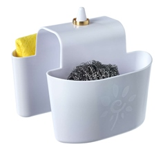 Sponge holder for double sink