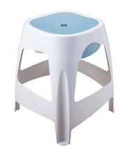 Stool with storage space.